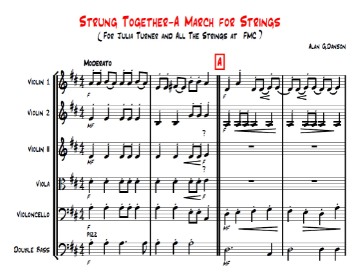 Strung Together - A March for Strings, score and parts