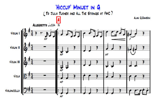 Hic-cup Minuet in G, score and parts