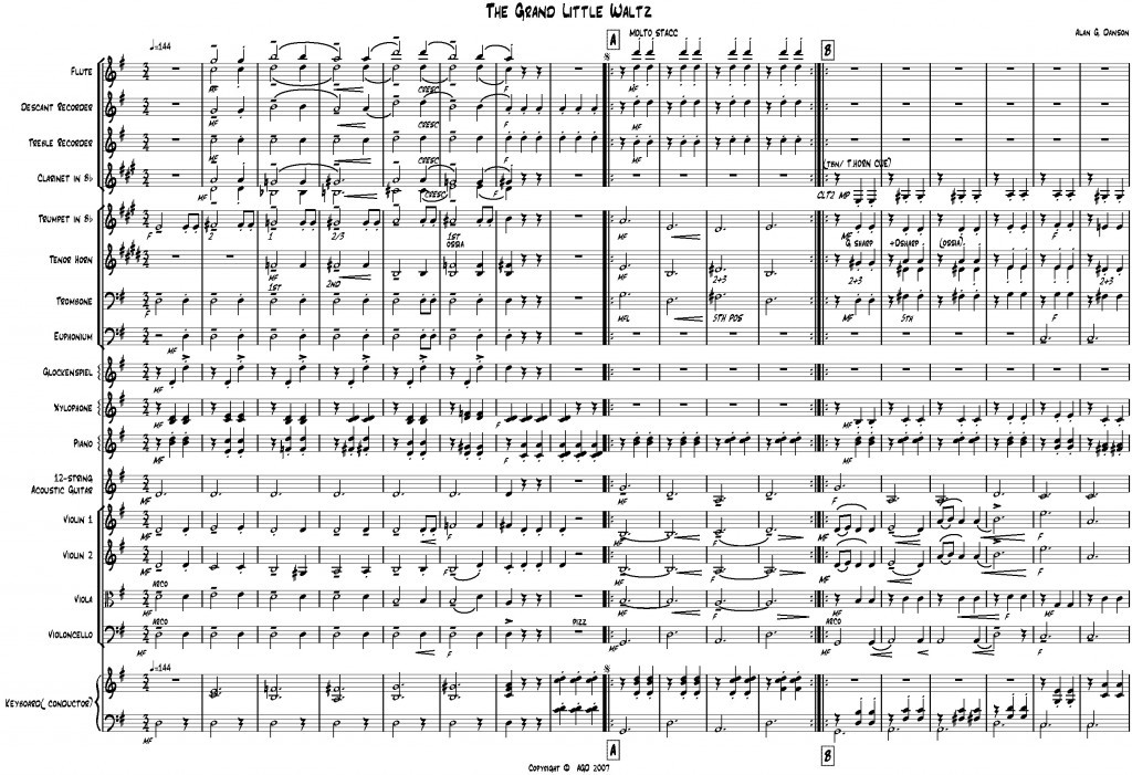 front page of Grand Little Waltz score