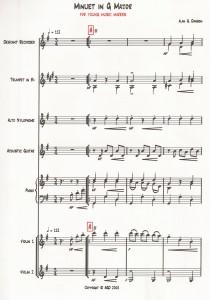 Score of Minuet in G Major